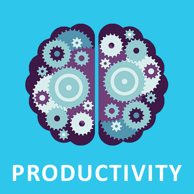 Productivity infographic icon