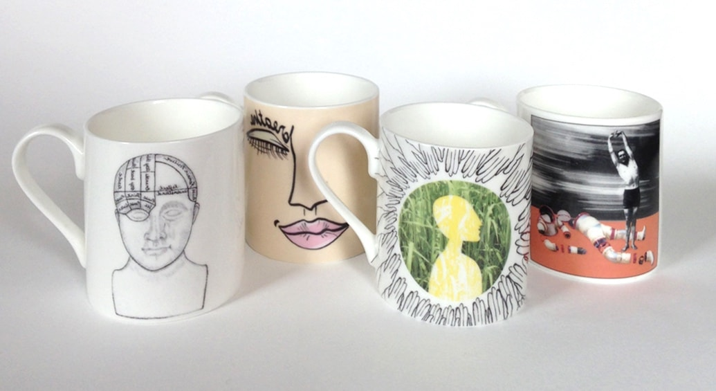 Mindfulness mugs in bone china